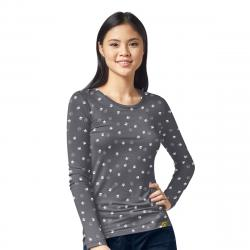 Wink Scrubs Women's WonderHero Silky All-Over Printed Tee Extended Sizes