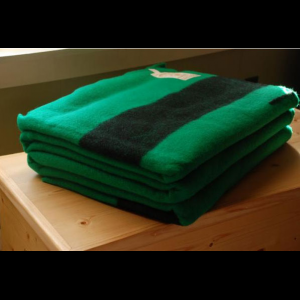 Hudsons Bay Green Wool 6 Point Blanket - Queen