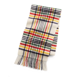 Hudsons Bay Tartan Wool Plaid Scarf