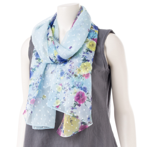 Sora Women's Faerie Rose Lily Flower Fruity Scarf