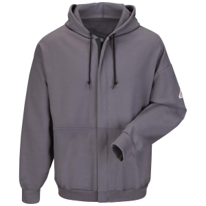Bulwark Men's Zip Front Hooded Sweatshirt - Cotton/Spandex Blend
