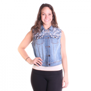 Tribal Women's Denim Vest