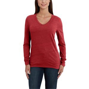 Carhartt Women's Lockhart Long Sleeve V-Neck T-Shirt - Discontinued Pricing