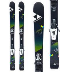 Kid's Fischer Pro MTN Jr Skis + FJ4 AC SLR Ski BindingsBoys' 2019