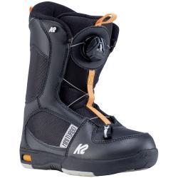 Kid's K2 Mini Turbo Snowboard BootsLittle Boys' 2021 - 2 in Black