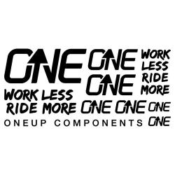 OneUp Components Bar Decal Sheet 2021 in Black