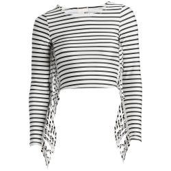 Women's Amuse Society Shea Striped Surf Top - Medium   Nylon/Spandex