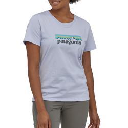 Women's Patagonia Pastel P-6 Logo Organic Crew T-Shirt 2021 - X-Small Gray | Cotton