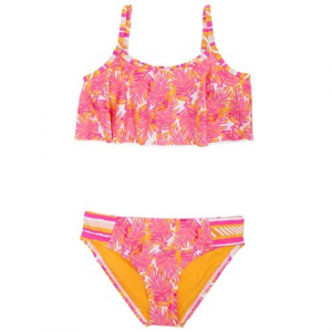 Roxy Palm Palm Flutter Bikini Swim Set (Ages 2 7) Little Girls'