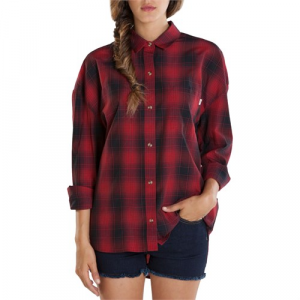 Obey Clothing Jordan Long Sleeve Button Down Shirt Women's