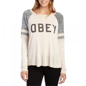 Obey Clothing Collegiate Obey 2 Raglan Top Women's