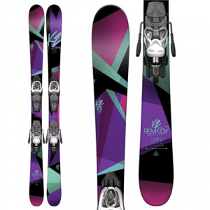 K2 Remedy 75 Jr Skis + Fastrak2 7 Bindings Girls' 2017