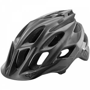 Fox Flux Matte Black Bike Helmet