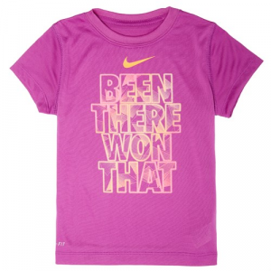 Nike Lightweight Dri Fit GFX T Shirt Little Girls