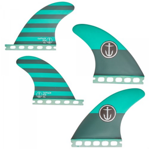Captain Fin CF Medium Single Tab Quad Fin Set