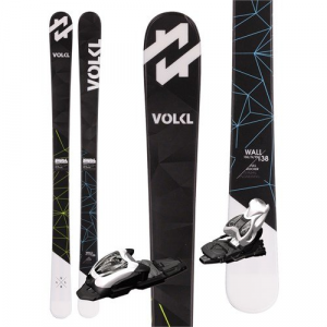 Volkl Wall Jr Skis + M4.5 Fastrak II Bindings Boys' 2017