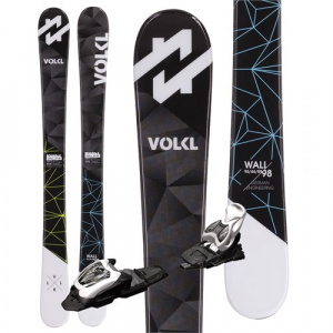 Volkl Wall Jr Mini Skis + M4.5 Fastrak II Bindings Little Boys' 2017