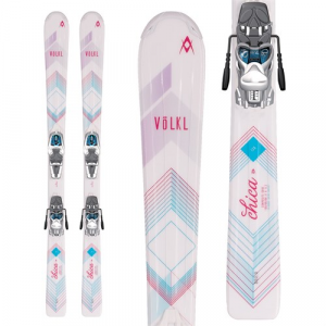 Volkl Chica Skis + 3Motion Jr 4.5 Bindings Little Girls' 2017