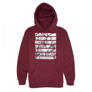 Casual Industrees Damn The Rest Geo Cascades Pullover Hoodie