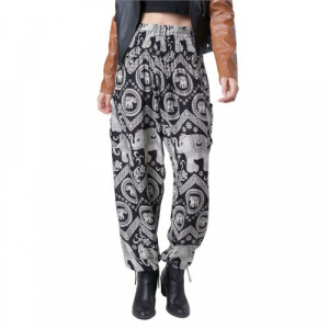 The Elephant Pants Black Diamond Harem Pants Women's