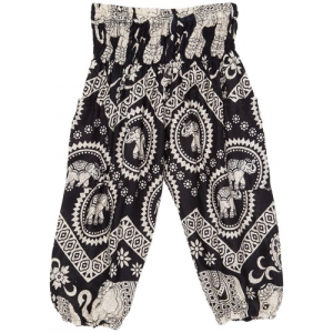 The Elephant Pants Black Diamond Harem Pants Little Girls'