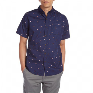 Katin Umbrellas Short Sleeve Button Down Shirt