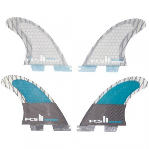 FCS II Performer PC Carbon Large Quad Fin Set