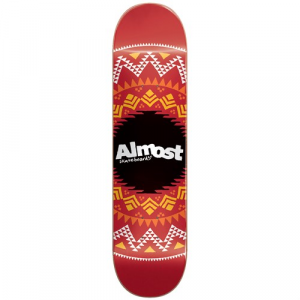 Almost Geo Aztek Red 7.75 Skateboard Deck