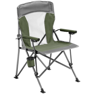 Image of Alpine Mountain Gear Hard Arm Chair 2021 in Green   Polyester