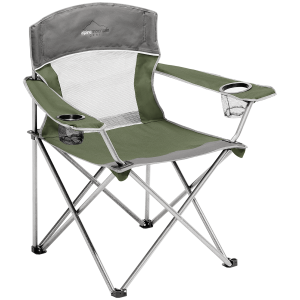 Image of Alpine Mountain Gear Mega Mesh Chair 2021 in Green   Polyester