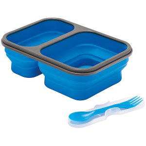 Image of Alpine Mountain Gear Collapsible Silicone Food Container 2021 in Blue
