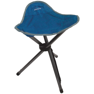 Image of Alpine Mountain Gear Tripod Stool Camp Chair 2021 in Blue   Polyester