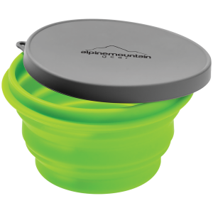 Image of Alpine Mountain Gear Collapsible Silicone Bowl Medium 2021 in Green