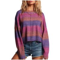 Women's Volcom Neon Signs Sweater 2021 - Large Pink | Acrylic/Wool/Elastane