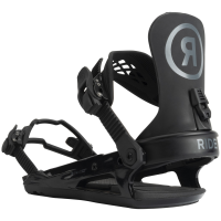 Kid's Ride K-1 Snowboard BindingsKids' 2022 - Medium in Black   Nylon/Aluminum/Plastic