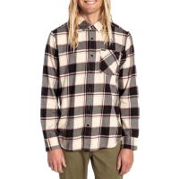 Volcom Caden Plaid Long-Sleeve Shirt 2021 - Large Black | Cotton