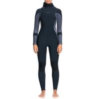 Women's Roxy 5/4/3 Syncro Chest Zip GBS Hooded Wetsuit 2021 - 4 in Black | Neoprene