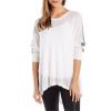 Blanc Noir Drape Mesh Sweater - Women's