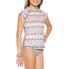 Billabong Gee Gee Geo Short-Sleeve Rashguard Set - Little Girls'