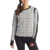 Blanc Noir Texture Sweatshirt - Women's