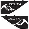 Inland Surfer Delta 2.3'' Skim Surf Fins