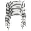 Women's Amuse Society Shea Striped Surf Top - Medium | Nylon/Spandex