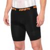 100% Crux Liner Shorts 2021 - 38 in Black   Elastane/Polyester