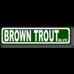 Wyoming Fly Fishing Brown Trout BLVD Fly Fishing Sign