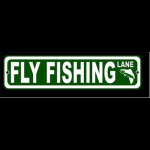 Fly Fishing Lane Sign
