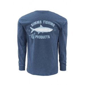 Simms Vintage Tarpon Long Sleeve T-Shirt Navy Blue Closeout Sale (3-19-18)