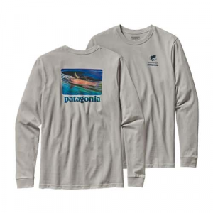 Patagonia Men's Long Sleeved World Trout Slurped Cotton T-Shirt (6-30-17)