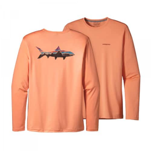 Patagonia Men's Graphic Tech Fish Tee Closeout Sale(11-15-17)