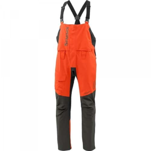 Simms Challenger Bib Fury Orange Closeout Sale (2-26-18)