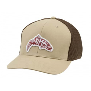 Simms Flexfit Trucker Woodblock Closeout Sale